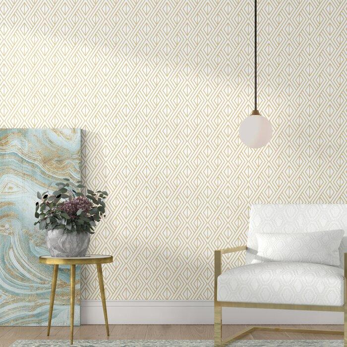 Delaware Diamond Geo 18 L X 20 5 W Peel And Stick Wallpaper Roll