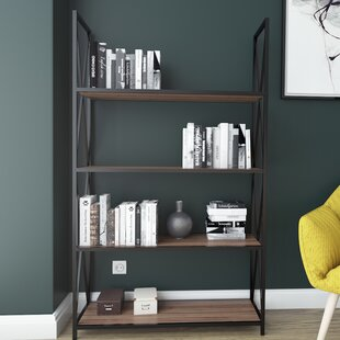 Altom X-Frame Metal Industrial 4-Tier Etagere Bookcase