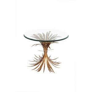 Wheat Gold Antique End Table by Fashion N You by Horizon Interseas