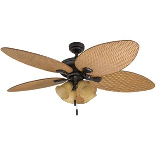 Compare & Buy 52 Palm Valley Tropical 5 Blade LED Ceiling Fan By Honeywell