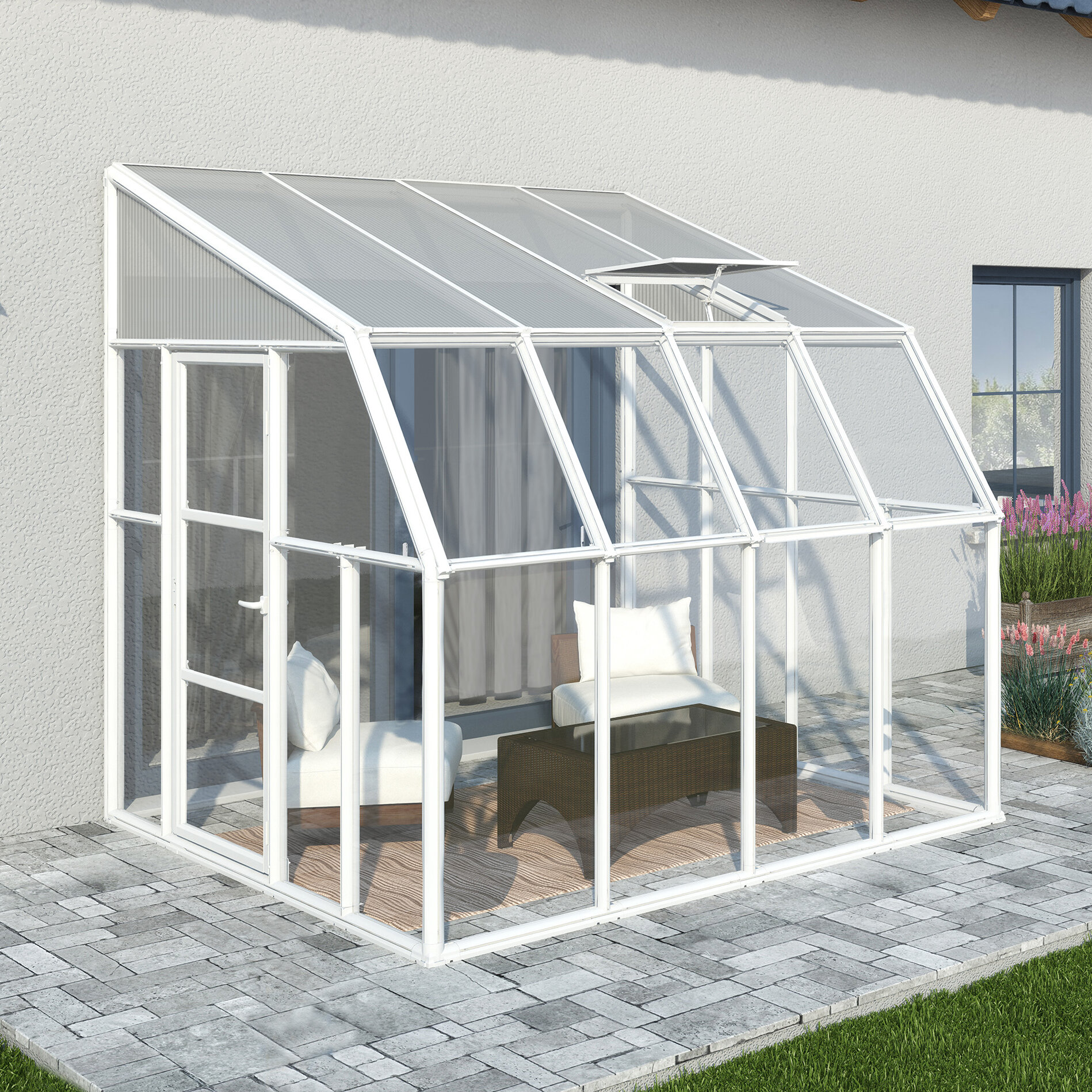 Rion Sunroom 2 Vinyl Wall Mounted Patio Gazebo & Reviews | Wayfair