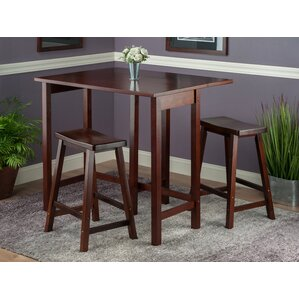 Bettencourt 3 Piece Pub Set  sc 1 st  Wayfair : kitchen table with stools - islam-shia.org