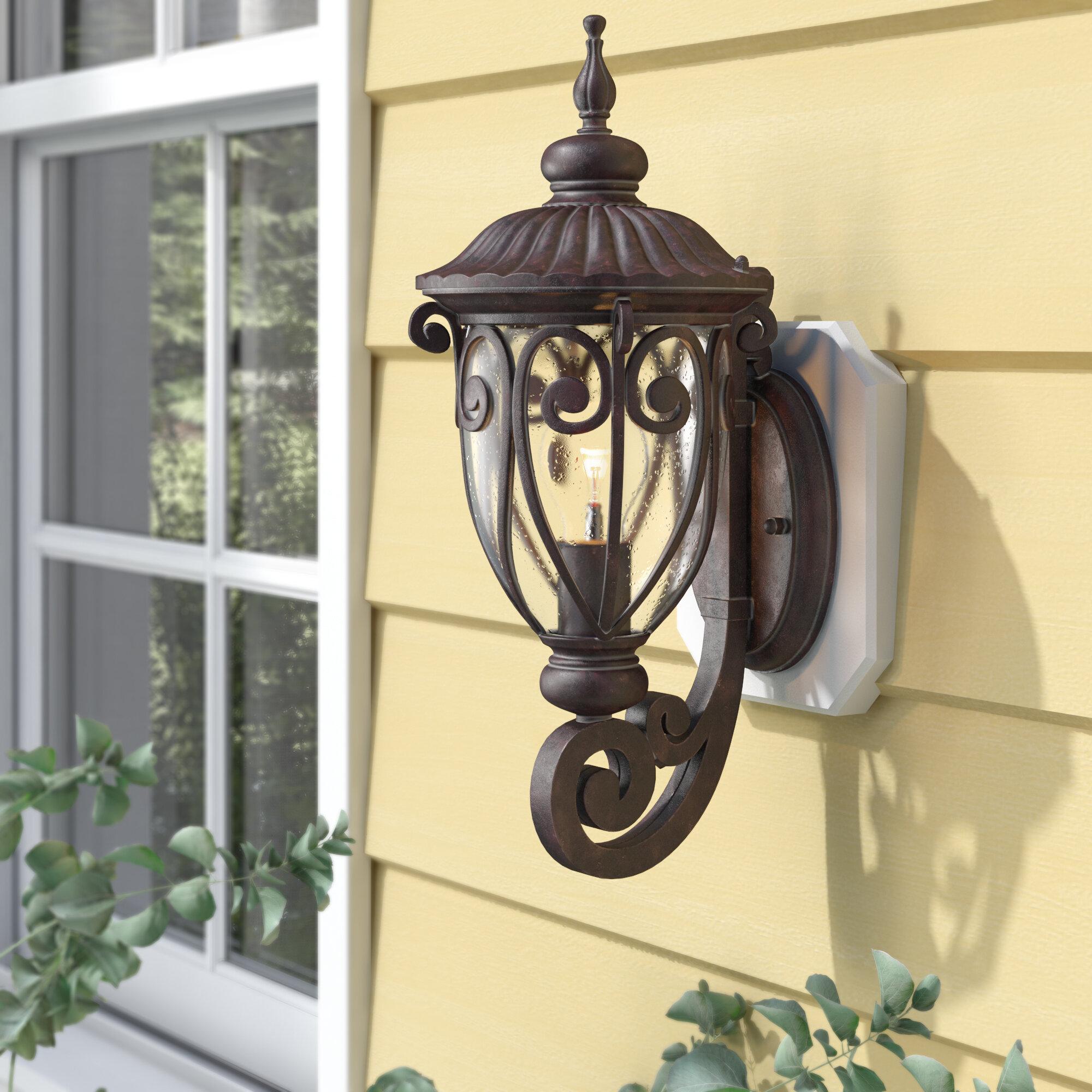 Astoria Grand Devlin Outdoor Wall Lantern Reviews Wayfair
