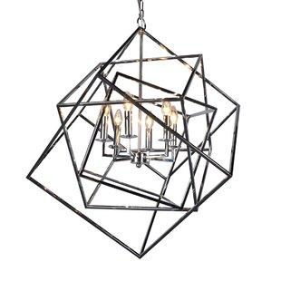 Find a Milian 6-Light Geometric Chandelier By Brayden Studio