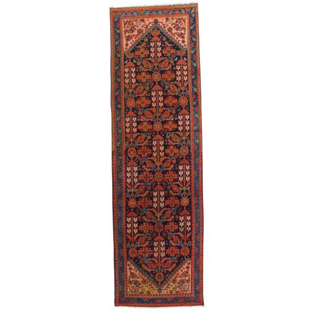 Pasargad Ny Persian Hand Knotted Wool Light Blue Ivory: Persian Hand-Knotted Wool Red/Light Blue Area Rug