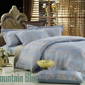dolce mela fountain blue 6 piece duvet cover set