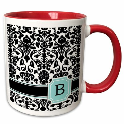 Red Barrel Studioâ Chitwood Letter Personal Monogrammed Coffee Mug Red Barrel Studioâ Color Red Green Letter B Dailymail