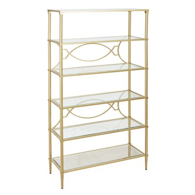 Turner Etagere Bookcase Color: Gold by Madison Park Signature