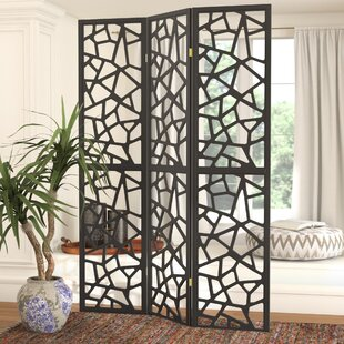 Savings Charlayne 3 Panel Room Divider By World Menagerie