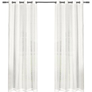 Exclusive Home Solid Sheer Grommet Curtain Panels (Set of 2)