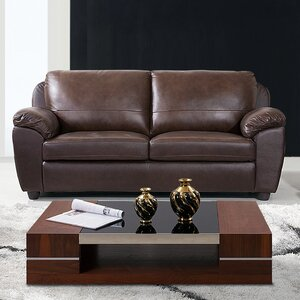 Riegel Dark Brown Sofa by Red Barrel Studio