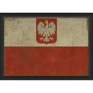 Polish Flag III Framed Graphic Art by The Artwork Factory