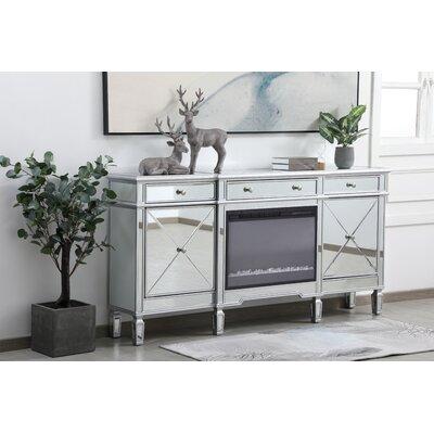 "Rosdorf Park Runkle 72"" Wide 3 Drawer Credenza  Color: Silver"