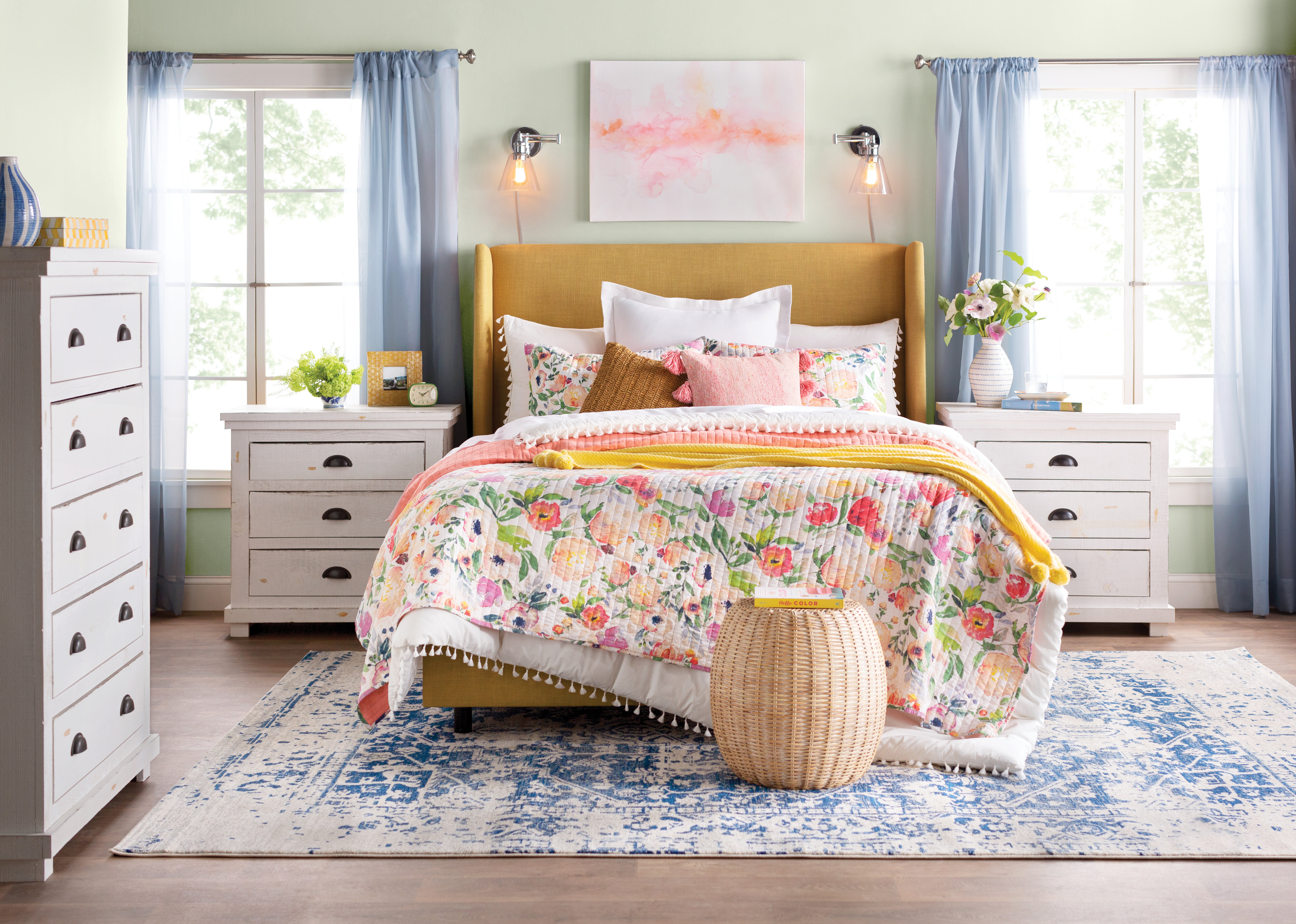 quilt and coverlet