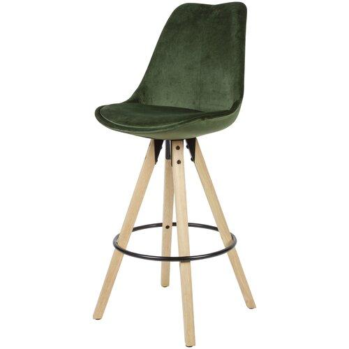 77 cm Barstuhl Set Boynton Mikado Living Farbe (Polster): Grün
