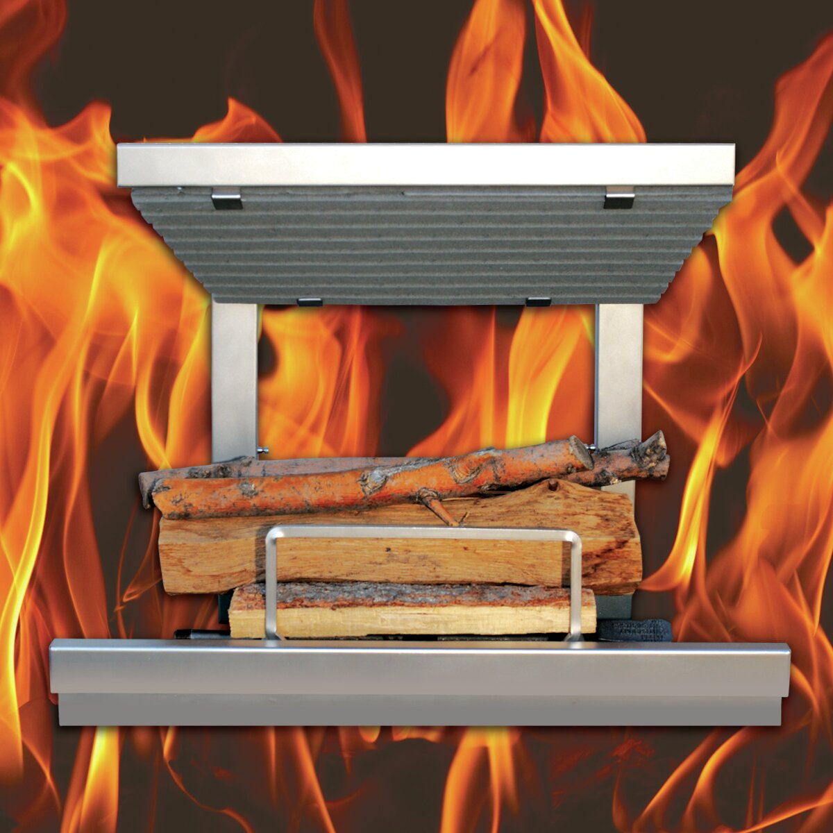 Earth S Flame Hybrid Clean Burn Wood Burning Fireplace Insert
