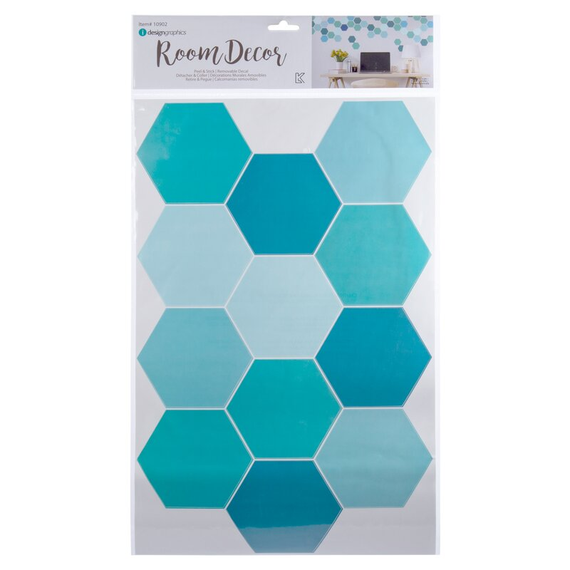 Ctgbrands Hexagon Wall Decals Wayfair