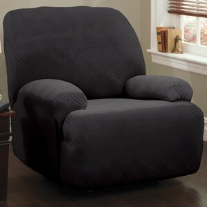 Double Diamond Stretch Sensations Box Cushion Recliner Slipcover & Recliner Slipcovers You\u0027ll Love | Wayfair islam-shia.org