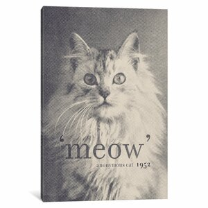 Famous Quotes (Cat) Graphic Art on Wrapped Canvas by Wrought Studio