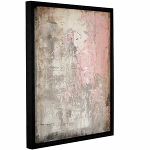 'Stone Abstract V' Framed Graphic Art Print on Canvas by Zipcode Design