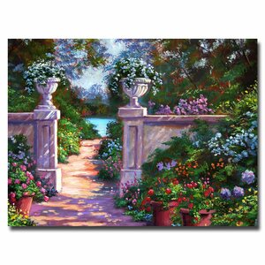 Sir Thomas Estate Garden by David Lloyd Glover Framed Painting Print on Wrapped Canvas by Trademark Fine Art