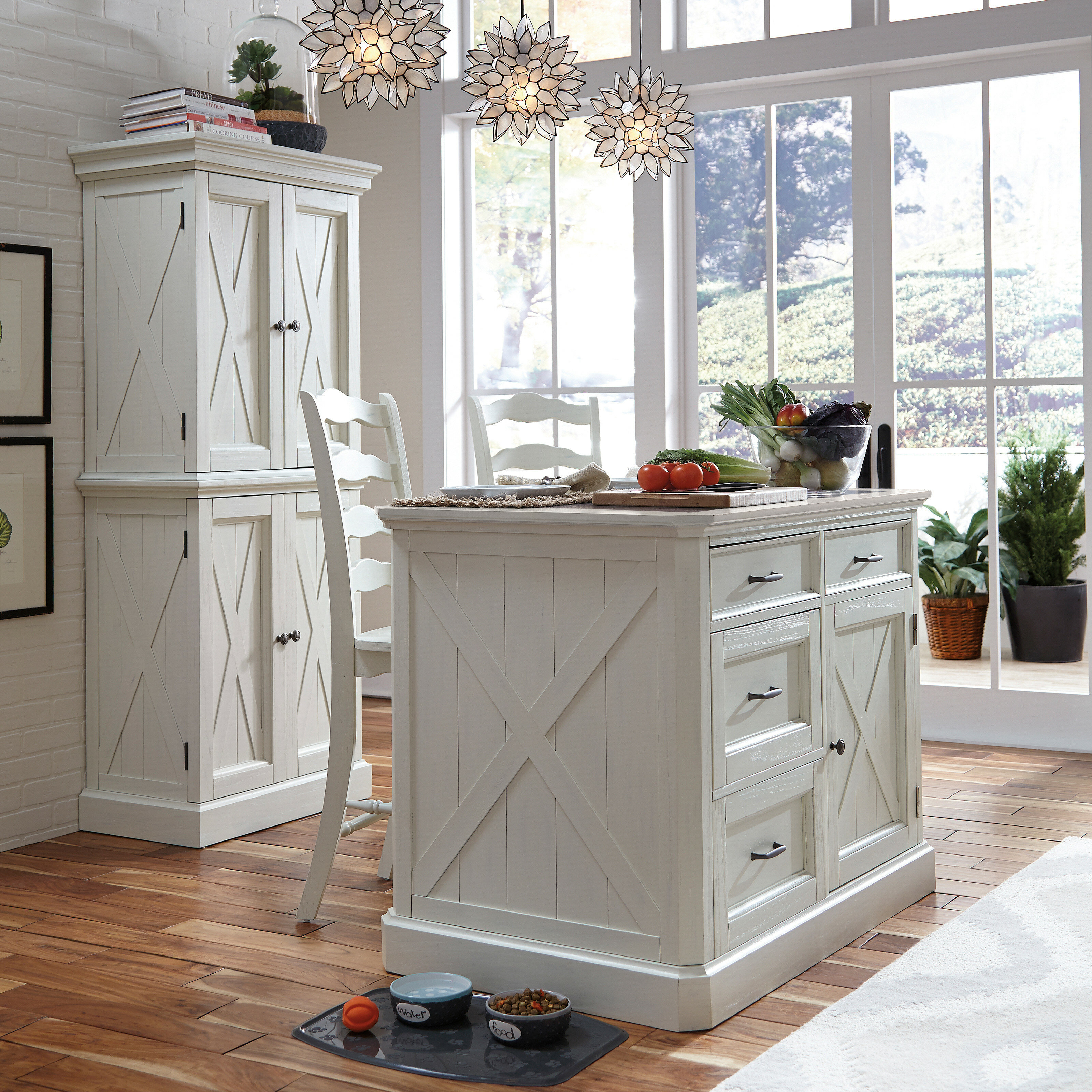 Laurel Foundry Modern Farmhouse Moravia Kitchen Island Set With Granite Top Reviews Wayfair