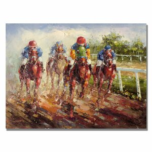 Kentucky Derby by Rio Painting Print on Canvas by Trademark Fine Art