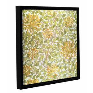 'Honeysuckle' Framed Graphic Art on Wrapped Canvas by Bungalow Rose