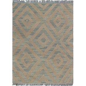 Ackworth Traditional Kilim Hand Woven Wool Gray Area Rug