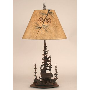 Find for Gonzalez Deer and Feather Tree 33 Table Lamp By Loon Peak