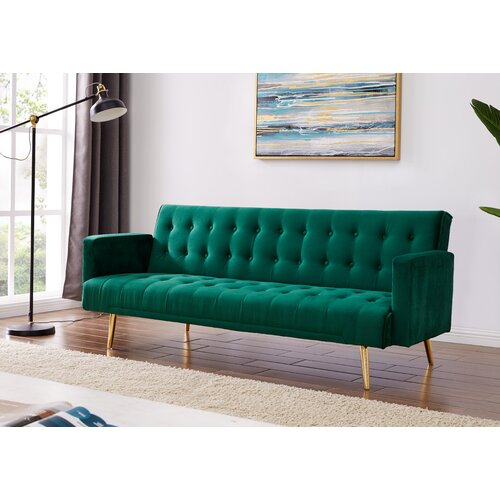 Clementine 3 Seater Clic Clac Sofa Bed Canora Grey Upholstery