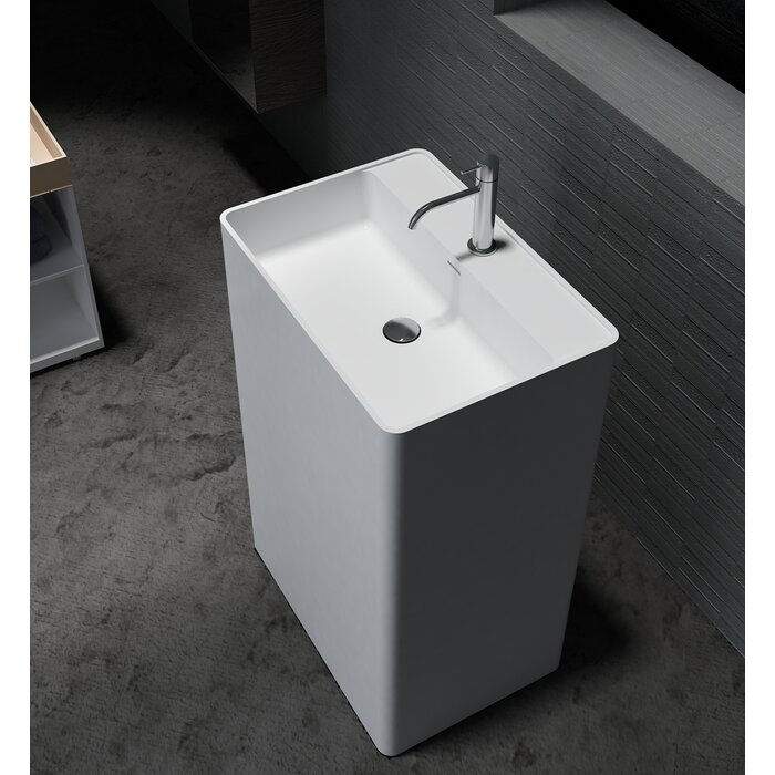 Havasu Stone 24 Pedestal Bathroom Sink