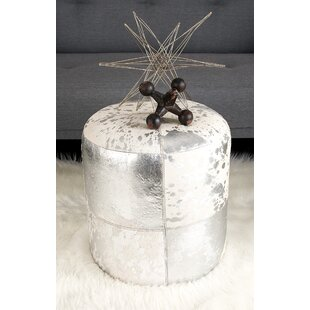 Find Leather Pouf ByCole & Grey