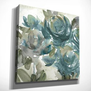 'Secret Garden Negative II' Oil Painting Print on Wrapped Canvas by Ophelia & Co.