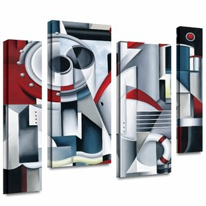 'Maiden Voyage' by Catherine Abel 4 Piece Graphic Art on Wrapped Canvas Set by ArtWall