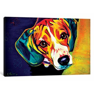 'Beagle Bailey' Painting Print on Canvas by East Urban Home