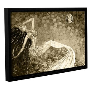 'Mermaid Sepia' Framed Painting Print by Zipcode Design