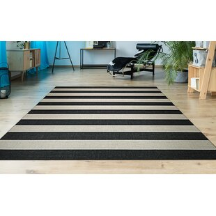 Gallinas Onyx Onyx/Ivory Indoor/Outdoor Area Rug by Beachcrest Home