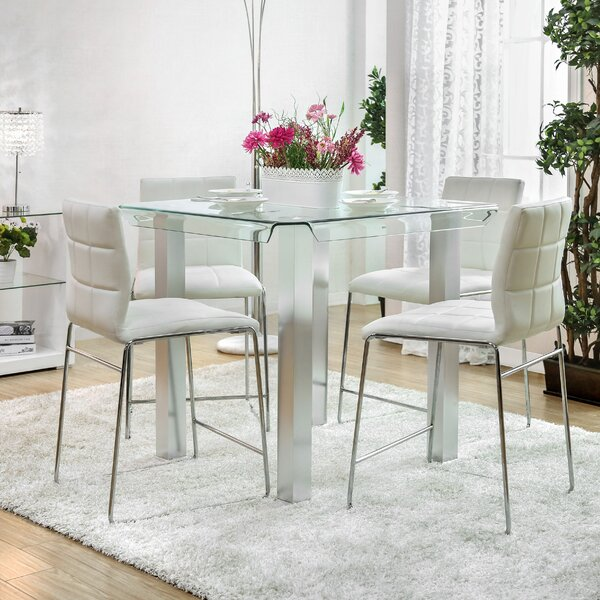 Wade Logan Gian Counter Height Dining Table U0026 Reviews | Wayfair