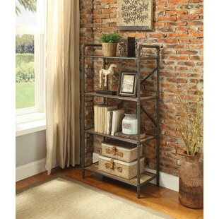 Crocker Industrial 4 Tier Shelf Etagere Bookcase