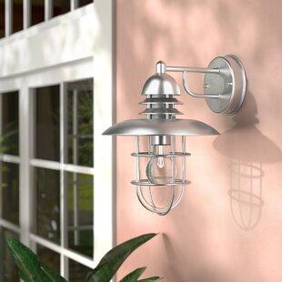 Best Clarke 1-Light Outdoor Wall Lantern By Beachcrest Home