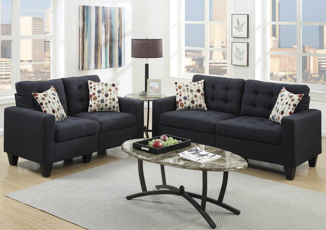 Andover Mills Callanan 2 Piece Living Room Set Reviews