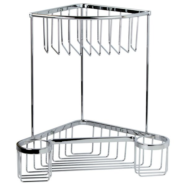 Ebern Designs Petri Corner Wall Mounted Shower Caddy | Wayfair