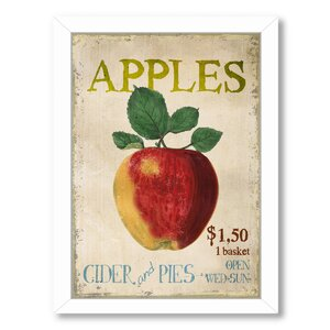 Apples, Cider and Pies Framed Vintage Advertisement by August Grove