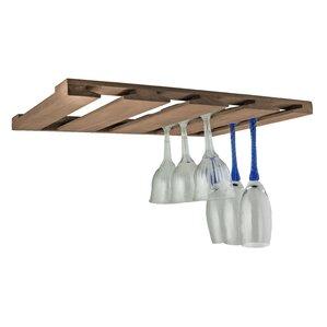 Overhead Hanging Wine Glass Rack by SeaTeak
