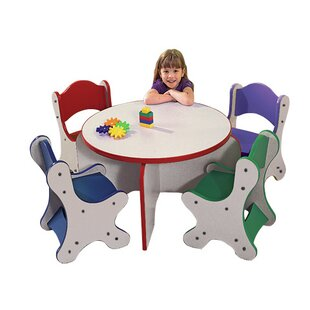 Friends Kids 5 Piece Table and Chair Set By Playscapes