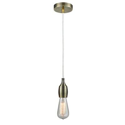 Nurseli 1 Light Single Bulb Pendant Ebern Designs Finish Antique Brass Shefinds