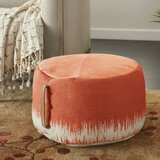 Mika 20 Round Abstract Pouf Ottoman by Bungalow Rose