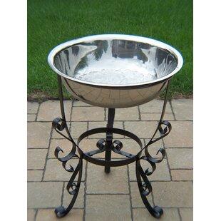 Good Patio Ice Bucket On Iron Stand   Wayfair