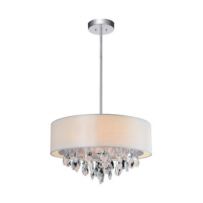 Manuel 3 Light Unique Statement Drum Pendant Rosdorf Park Shade Color Off White Shefinds